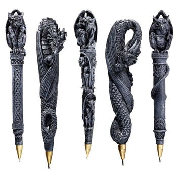 Park Avenue Collection S/5 Gargoyles & Dragons Pens