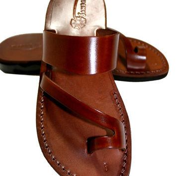 Brown Roman Leather Sandals for Men & Women