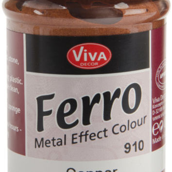 copper ferro metal effect textured paint - 3 oz.