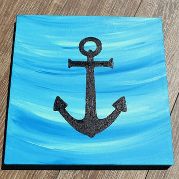 Shop anchor canvas painting on wanelo for Cool easy things to paint