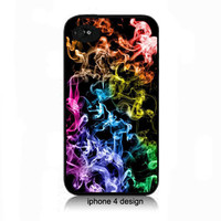 Rainbow Smoke iphone 4 cell phone accessory case,  iphone 4 cover