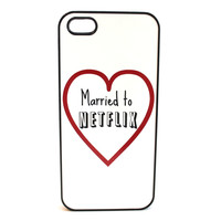 Married to Netflix Phone Case
