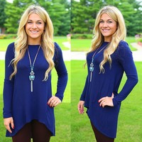 Along For The Ride Tunic in Navy