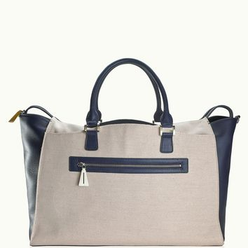 GiGi New York The Weekender Canvas with Navy Pebble