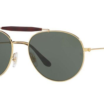 Ray Ban Aviator Double Bridge RB3540 001 Sunglasses Gold with Green G-15 Lenses
