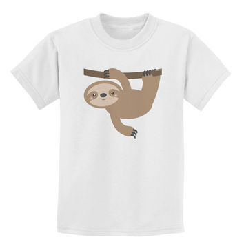 Cute Hanging Sloth Childrens T-Shirt