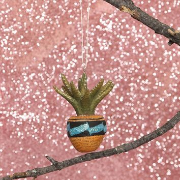 CACTUS ORNAMENT - BLUE