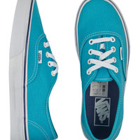 Vans Authentic Cyan Blue True White Womens Shoes