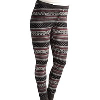 Maternity Patterned Waffle-Knit Leggings