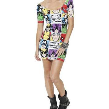 Marvel Comics Bodycon Dress | Shop Dresses at Wet Seal