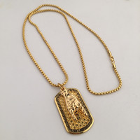 Jewelry New Arrival Gift Stylish Shiny Gold Hip-hop Couple Club Necklace [6542769411]