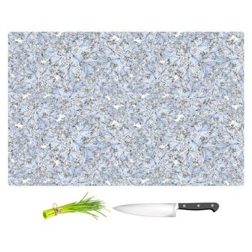 Cutting Boards By Julia Grifol Blue Flowers I