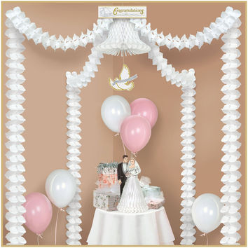 Party Canopy Decorating Kit, 20-feet, Bridal Shower / Wedding