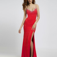 Coral Jersey Gown