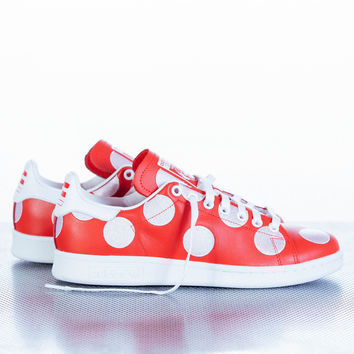 "Pharrell x adidas Originals ""Big Polka Dot Pack"" Stan Smith - Red"