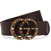Gucci - Crystal-embellished leather belt