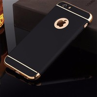 for iPhone 6s case Luxury Black Matte Hard 360 Full Protection Case For iphone 6 6S Plus Removable 3 in 1 Back Cover for iphone6