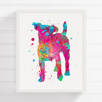 Jack Russell Watercolor, Jack Russell Art, Jack Russell Print, Jack Russell Painting, Dog Wall Art, Dog Lover Gift, Girls Room Decor, Poster