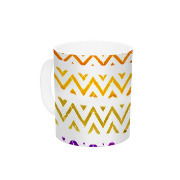"Sreetama Ray ""Chevron Add"" Warm Chevrons Ceramic Coffee Mug"