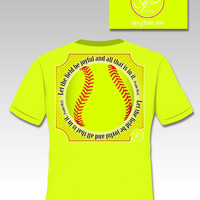 Sassy Frass Softball Scripture Let All the Fields Be Joyful Bright T Shirt