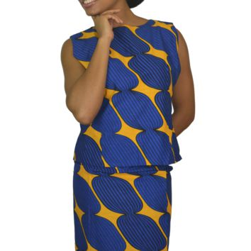 Summer freestyle skirt and top design with African wax