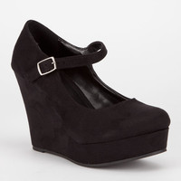 Soda Romie Womens Wedges Black  In Sizes