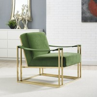 Baxter Green Velvet Chair | Overstock.com Shopping - The Best Deals on Living Room Chairs