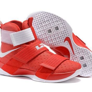 nike lebron soldier 10 ep ohio state basketball shoes us7 12-1