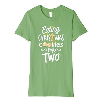 Eating Christmas Cookies For Two Maternity T-Shirt