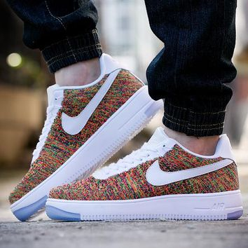 Nike Air Force 1 Flyknit Af1 817419-604 2018 For Women Men Running Sport Casual Shoes Sneakers
