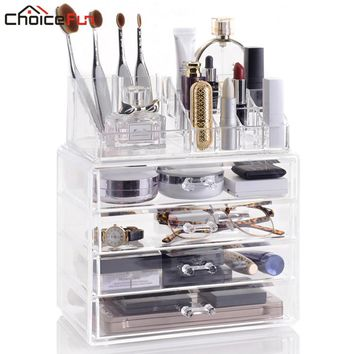 CHOICE FUN Bathroom Extra Large 4 Drawers Storage Box Acrylic Makeup Organizer Multifunction Organizador SF-1029-4