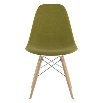 Mid Century Dowel Side Chair Avocado Green