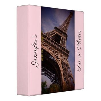 Paris Eiffel Tower Famous Landmark Photo 3 Ring Binder