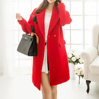 Red Lapel Coat