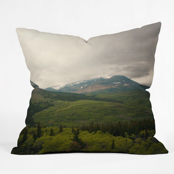 Catherine McDonald Wild Montana Outdoor Throw Pillow