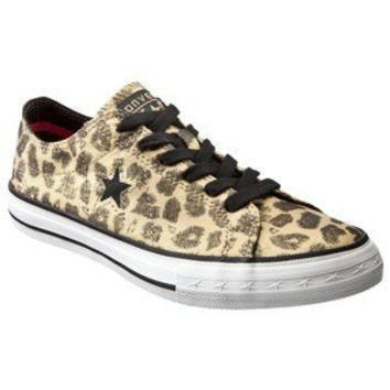 women s converse one star leopard oxfords brown