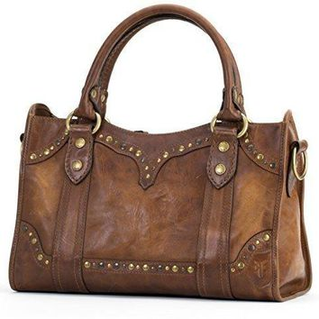 Stud Satchel Leather Bag