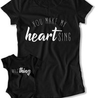 Mommy And Me Shirts, Mom and Daughter Outfits, Mother Son Tops, Mothers Day Gift, Matching Family T Shirts, Wild Thing TEP-1062-1063