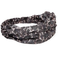 Women's Animal Print Headband in Grey by Daytrip.