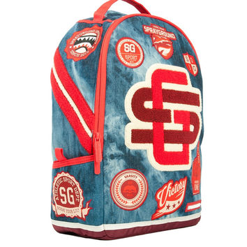 Acid Denim Varsity Backpack (SPRAYGROUND)