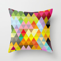 Triangles No. 4 Throw Pillow by House of Jennifer