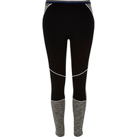 River Island Womens Black block color ponte yoga leggings