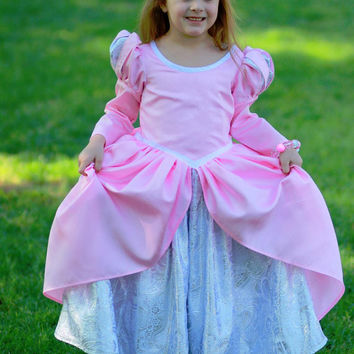 Deluxe Ariel Pink Ballgown Disney Princess Dress Size 5T Little Mermaid costume