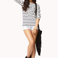 Striped Boat-Neck Tee
