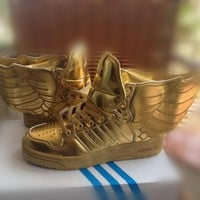 adidas Jeremy Scott wings 2.0 gold Men Women Sneaker