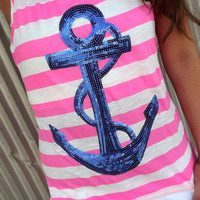 Neon Pink Anchor Tank | The Rage