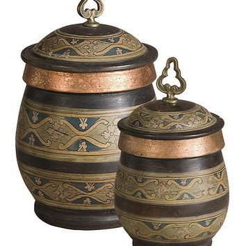 Uttermost Cena Terracotta Canisters, Set/2 - 19134