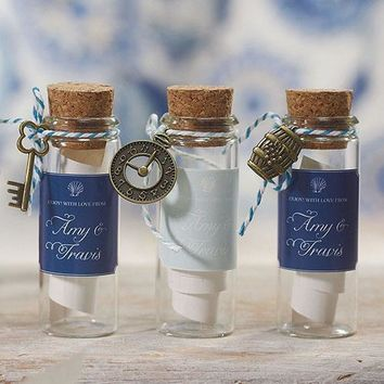 Small Glass Bottle With Cork Stopper Wedding Favor (Pack of 6)