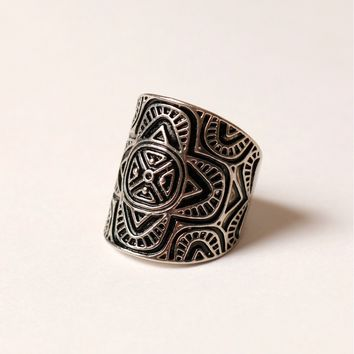 Tribal Ring Silver