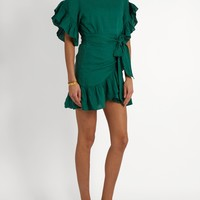 Delicia ruffled linen mini dress | Isabel Marant Étoile | MATCHESFASHION.COM US